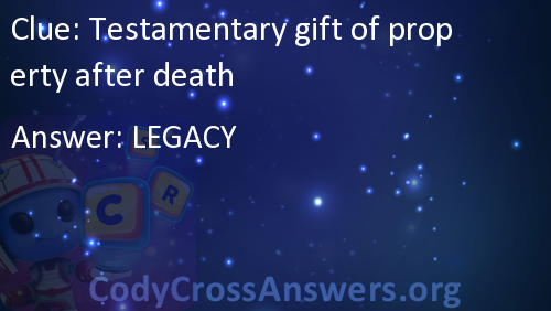 Testamentary gift of property after death Answers ...