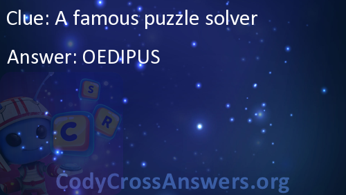 a famous puzzle solver answers codycrossanswers org