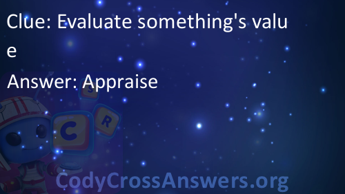 what is to evaluate something