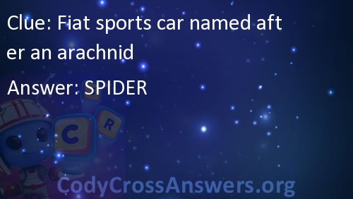 Fiat Sports Car Named After An Arachnid Answers Codycrossanswers Org