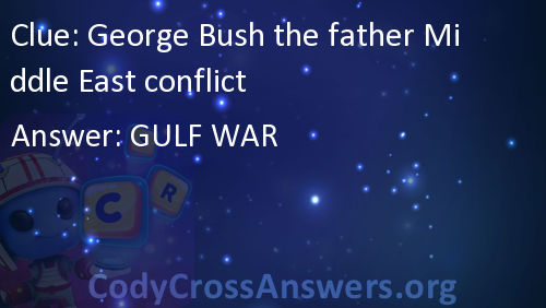 George Bush The Father Middle East Conflict Answers