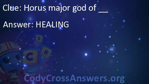 Horus major god of __ Answers - CodyCrossAnswers org