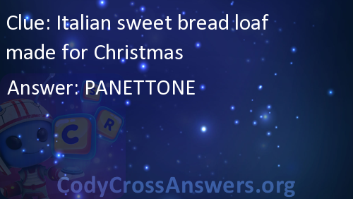 italian sweet bread loaf made for christmas answers