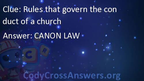 Rules that govern the conduct of a church Answers