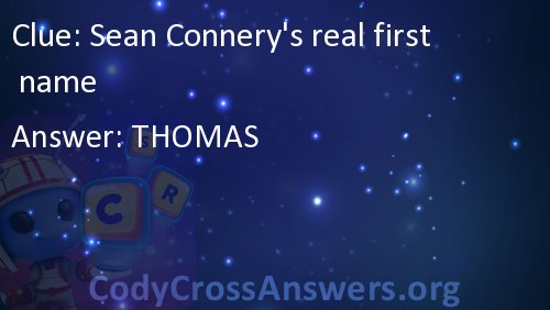Sean Connery's real first name Answers - CodyCrossAnswers org