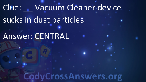 Vacuum Cleaner device sucks in dust particles Answers