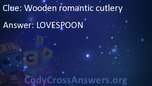 Wooden Romantic Cutlery Answers Codycrossanswersorg